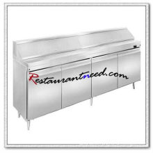 R266 2.4 m 4 Portas Fancooling Salad Work Bench